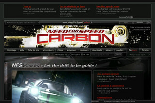 Need For Speed Carbon sur needforspeedcarbon.fr