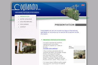 Maintenance de machines textile - Cogliandro.com