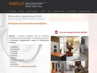 Aperçu visuel du site http://www.renovation-fairplay.com