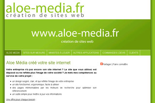 Création de sites Internet à Saint Malo, Rennes - Aloe-media.fr