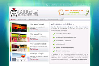 Creation site internet Nice et environs sur Creation-site-web-nice.com