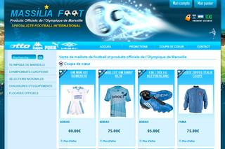 Massilia Foot : Maillots de Football de l'OM