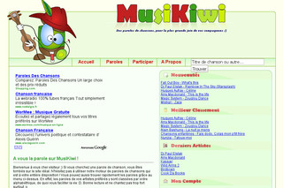 Paroles de chansons MusiKiwi