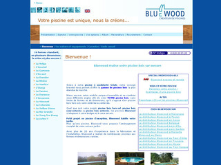Bluewood piscines bois hors sol et sur mesure for Piscine poolman