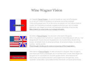 Site du sommelier Pascal Wagner : Wine Wagner Vision