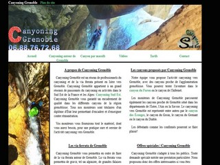 Canyoning Grenoble dans le Vercors et la Chartreuse - Canyoninggrenoble.net