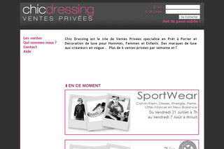 Chicdressing.com - Vente privée mode sur Chic Dressing