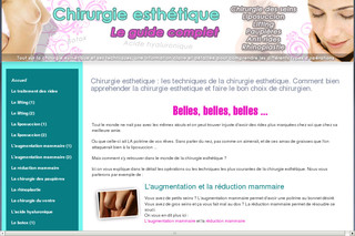 Chirurgie Esthetique : Le guide sur Chirurgie-esthetique-guide.com