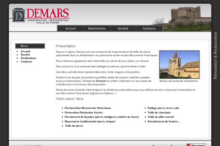 Demars SAS - Rénovation, Construction, Restauration, Taille de pierre - Demars-renovation.fr