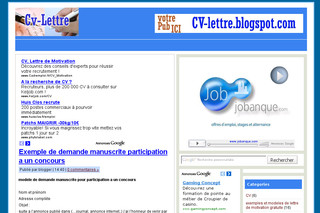 CV lettre de motivation - Cv-lettre.blogspot.com