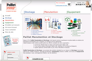 Manutention stockage rayonnage atelier - Paillet-manutention.fr
