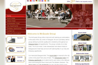 Groupe McQuade - Hôtels et Appartements en Écosse - Glasgowhotelsandapartments.co.uk