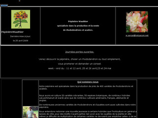 Aperçu visuel du site http://www.rhododendronwauthier.be