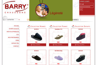 gamme exceptionnelle de styles et de couleurs conception adroite regarder Vente de chaussons, sandale et pantoufles en ligne - Barry ...