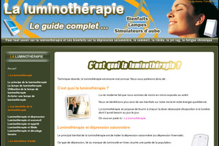 La luminotherapie sur Luminotherapie-lampe.com