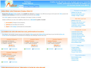 Création de sites web low cost - Aidice-web.com