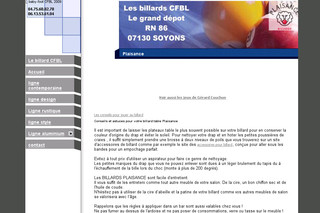 Billard-cfbl.com - Le catalogue complet des billards Plaisance