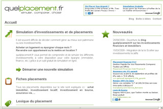 Quelplacement.fr - simulation de placement et d'investissement
