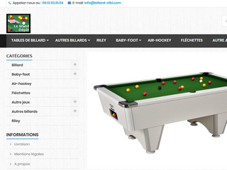 Les billards tables CFBL de Gérard Couchon - Billard-cfbl.com
