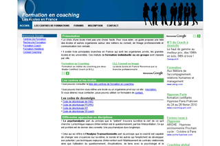 Informations sur la formation au coaching avec Formation-coaching.info