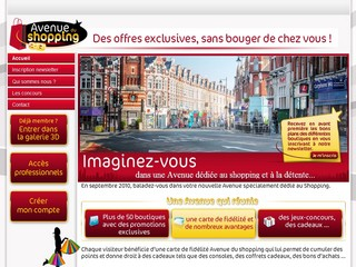 Avenue du Shopping 3D sur Avenuedushopping.fr