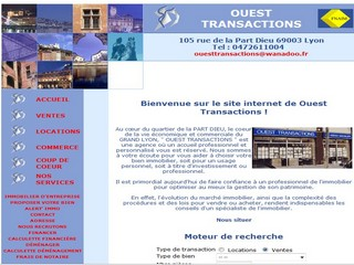 Ouest-transactions.com - Agence immobiliere Ouest Transactions Lyon