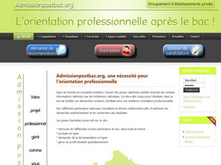Admissionpostbac.org - Admission post bac, formations, grandes écoles - Admission Post Bac des établissements privés