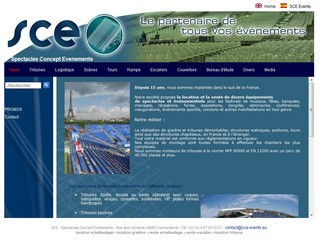 SCE Events : location de tribunes et gradins - Sce-events.eu